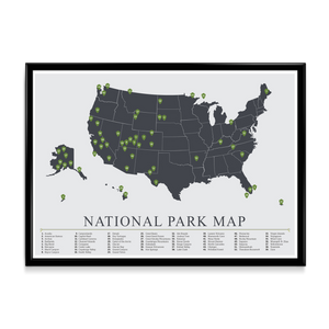 USA National Park Map