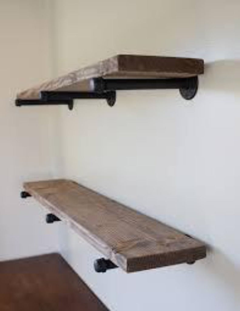 black iron furniture. Maple And Black Iron Pipe Shelves Phillips Foundry Furniture A