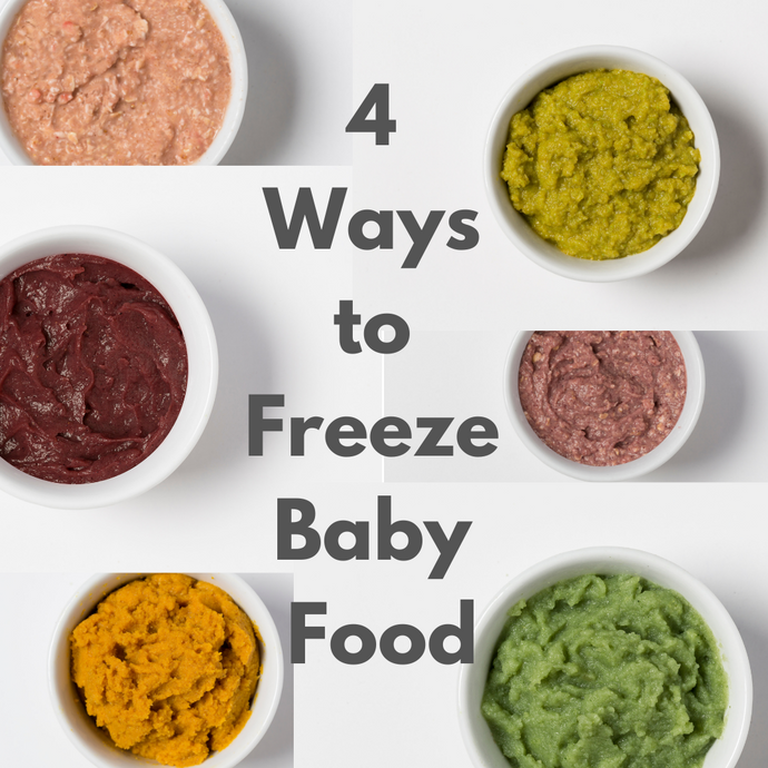 4 Ways to Freeze your Baby Food