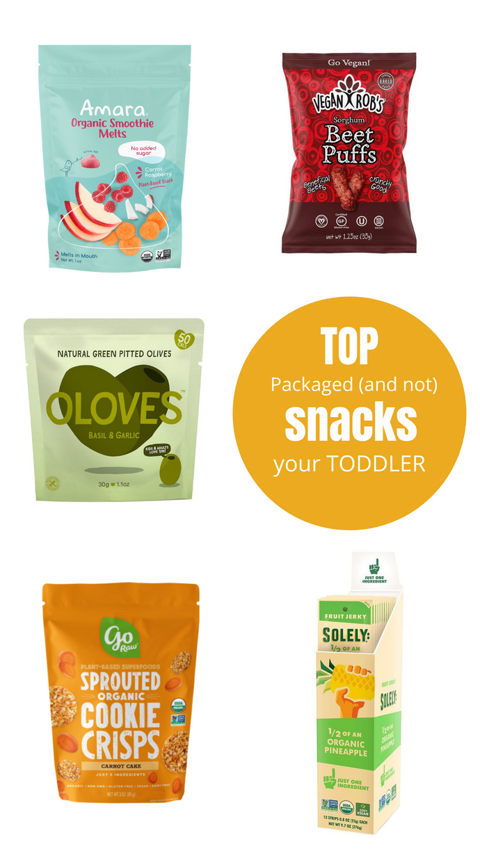 Top Healthy Packaged (and Not) Snacks for your Toddler