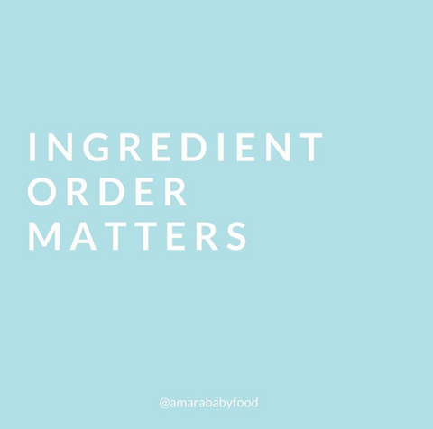 Amara Best Baby Food_Food Fact 6 ingredient order matters