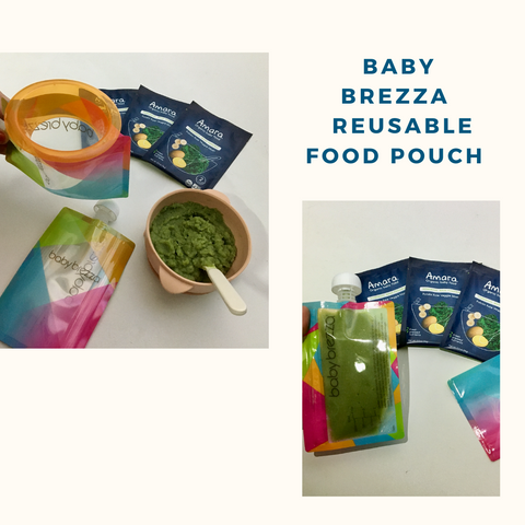 Baby Brezza reusable food pouch