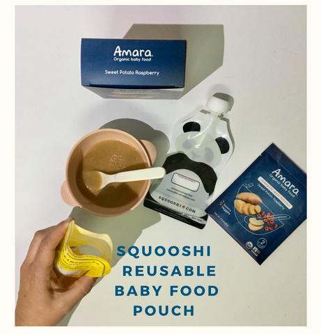 Squooshi baby food reusable pouch