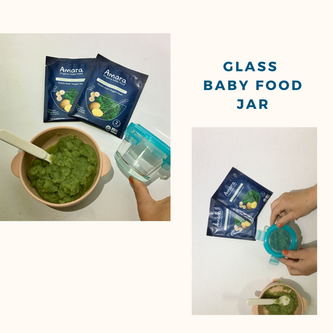 baby food glass jar reusable food pouch