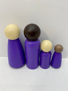 Purple Peg Doll's