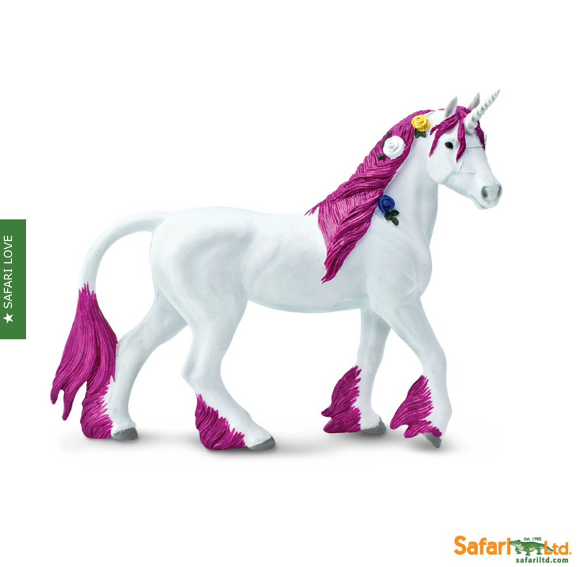 Safari ltd pink unicorn child fantasy play toys