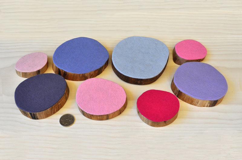 Timber wood discs felt natural tree resources sustainable  posies