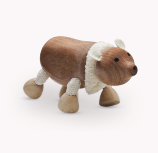 Anamalz, wooden Animals sustainable natural timber polar bear
