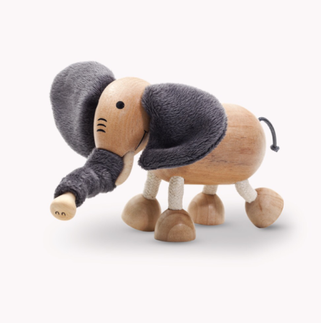 Anamalz, wooden Animals sustainable natural timber elephant