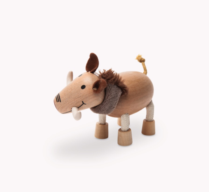 Anamalz, wooden Animals sustainable natural timber warthog