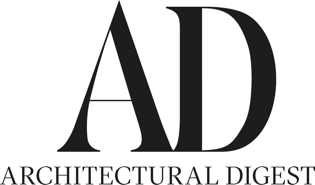 Architectural Digest Logo with large A and D in black font with a background that is white.