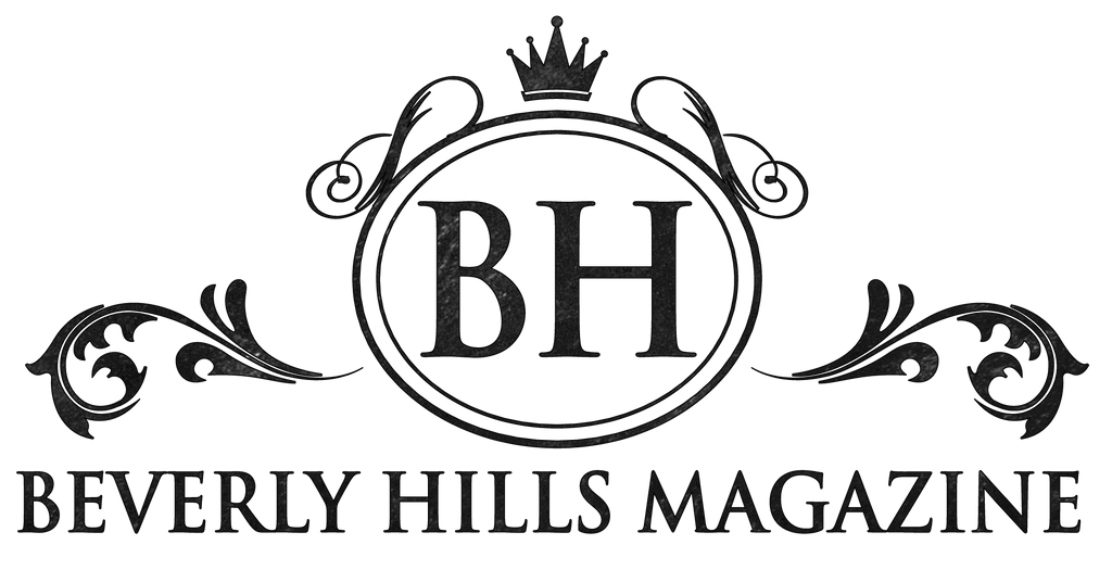 Beverly Hills magazine logo in black font with white background.