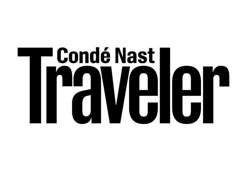 Conde Nast Traveler logo in black text with crisp white background.