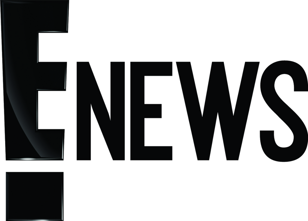E News logo with black text and white background