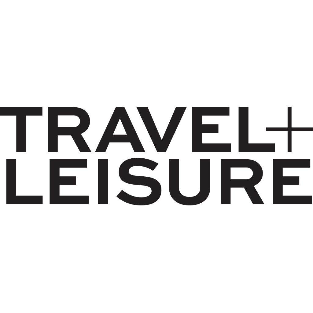 Travel and Leisure logo with solid black lettering on a crisp white background.