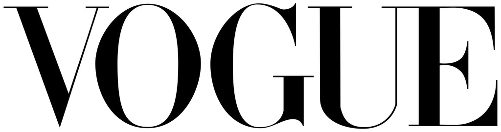 Vogue logo on one line in all capital letters with black text and a white background.