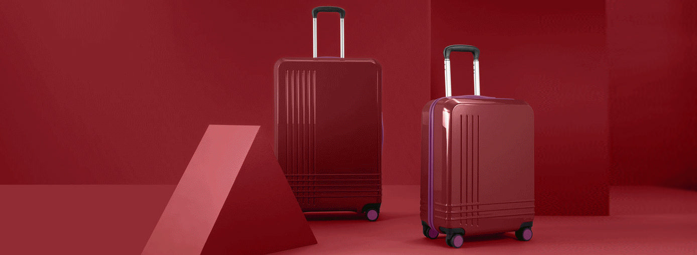 roam luggage red cases