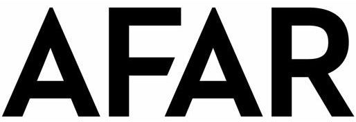 AFAR logo with black text and crisp white background.
