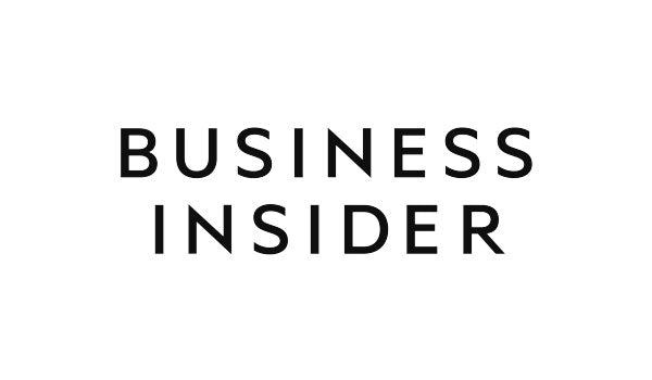 Business Insider logo with solid black lettering on a crisp white background.