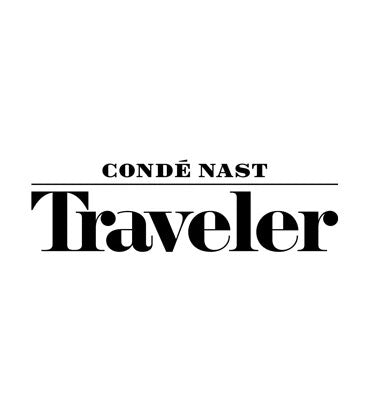 Conde Nast Traveler Logo with solid black lettering on a crisp white background.
