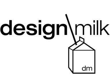 Design Milk logo with black text and white background