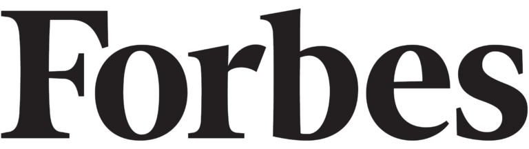 Forbes logo with solid black lettering on a crisp white background.