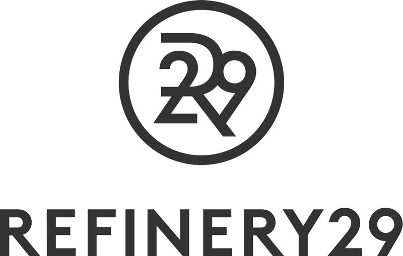 Refinery 29 logo in black text on crisp white background.