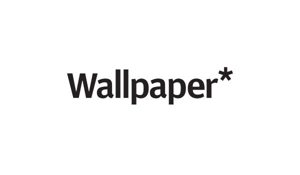 Wallpaper magazine logo in a solid black font on a crisp white background.