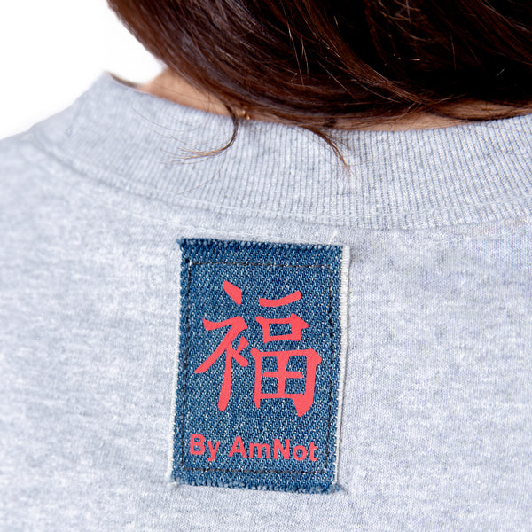 T-SHIRT UNISEXE GRIS CHINÉ GOOD FORTUNE