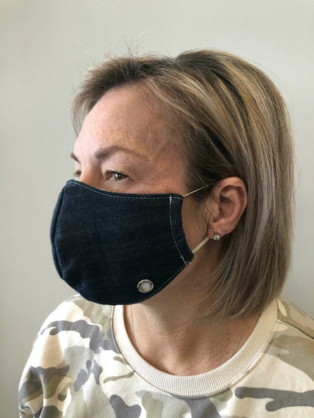 NON MEDICAL FACE MASK REUSABLE DENIM BLACK