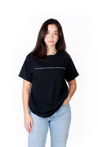 T-SHIRT UNISEXE NOIR GOOD FORTUNE