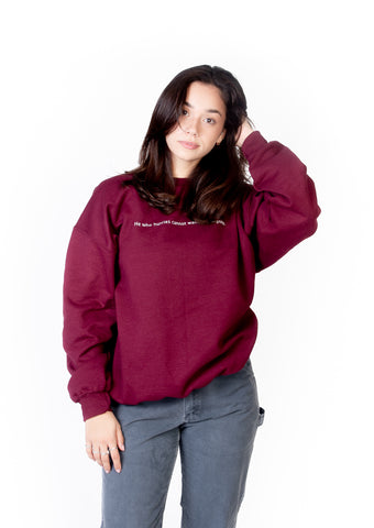CREWNECK BURGUNDY GOOD FORTUNE