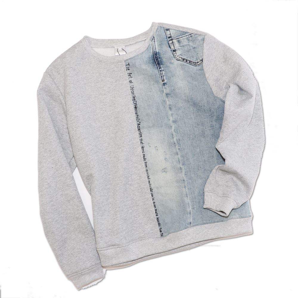 CREWNECK HALF DENIM
