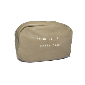 "Sac ceinture "" This is a green bag """