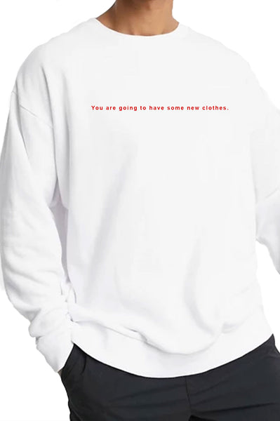 CREWNECK WHITE GOOD FORTUNE