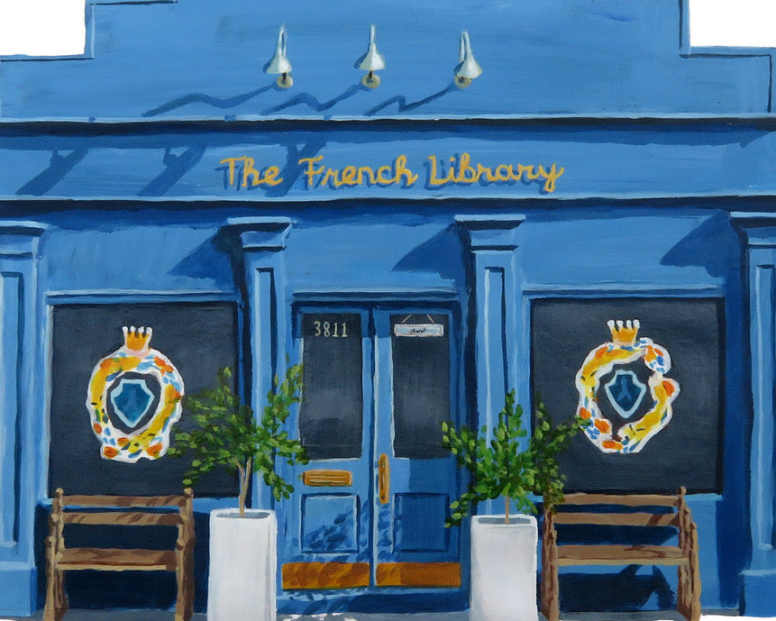 Painting of the French Library Store Front