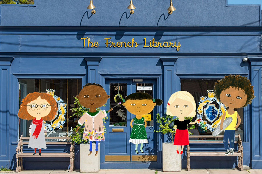The Kids with The French Library