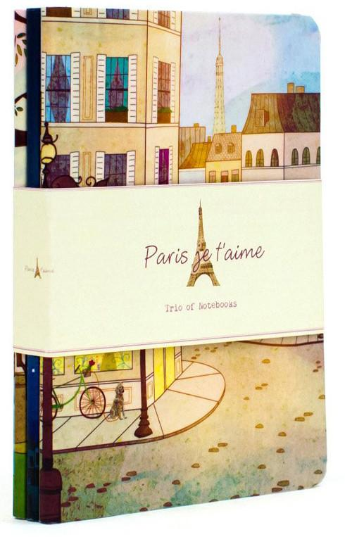 Paris je t'aime: Trio of Notebooks