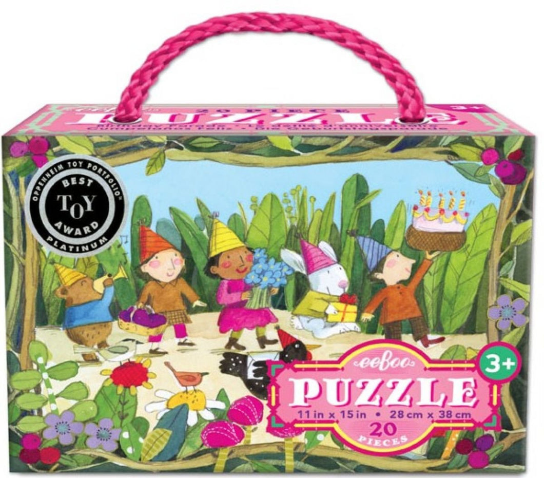 eeBoo Birthday Parade 20 Pc. Puzzle