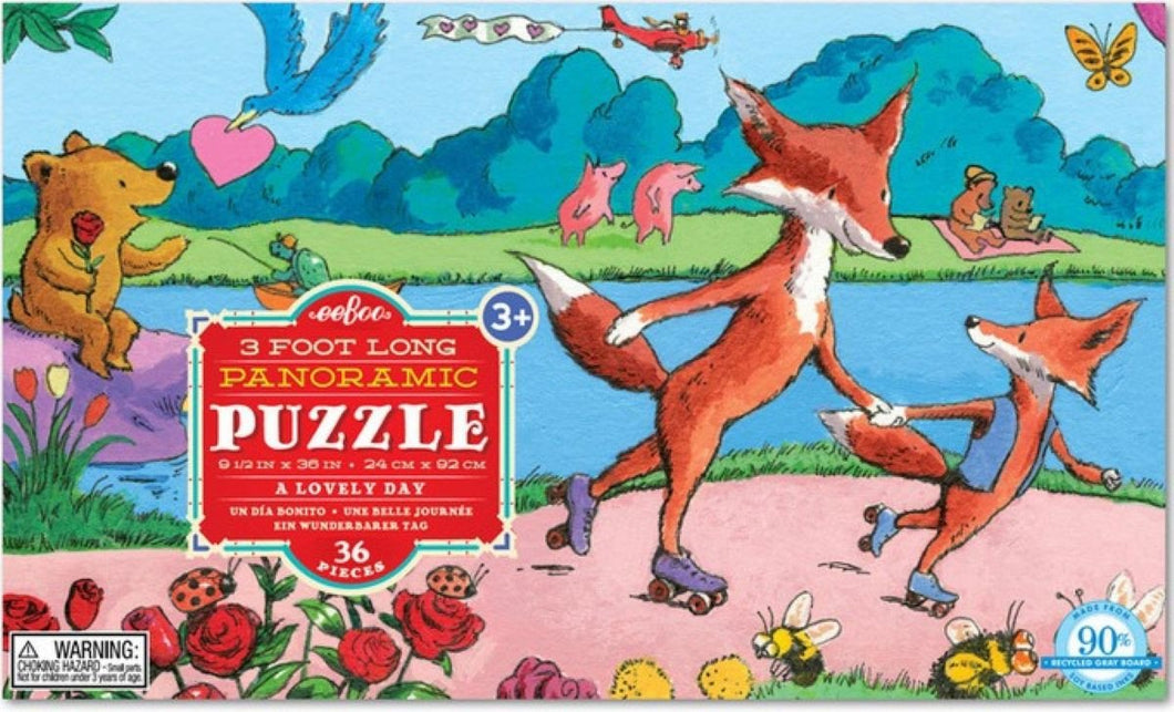 eeBoo A Lovely Day 36 Pc Panoramic Puzzle