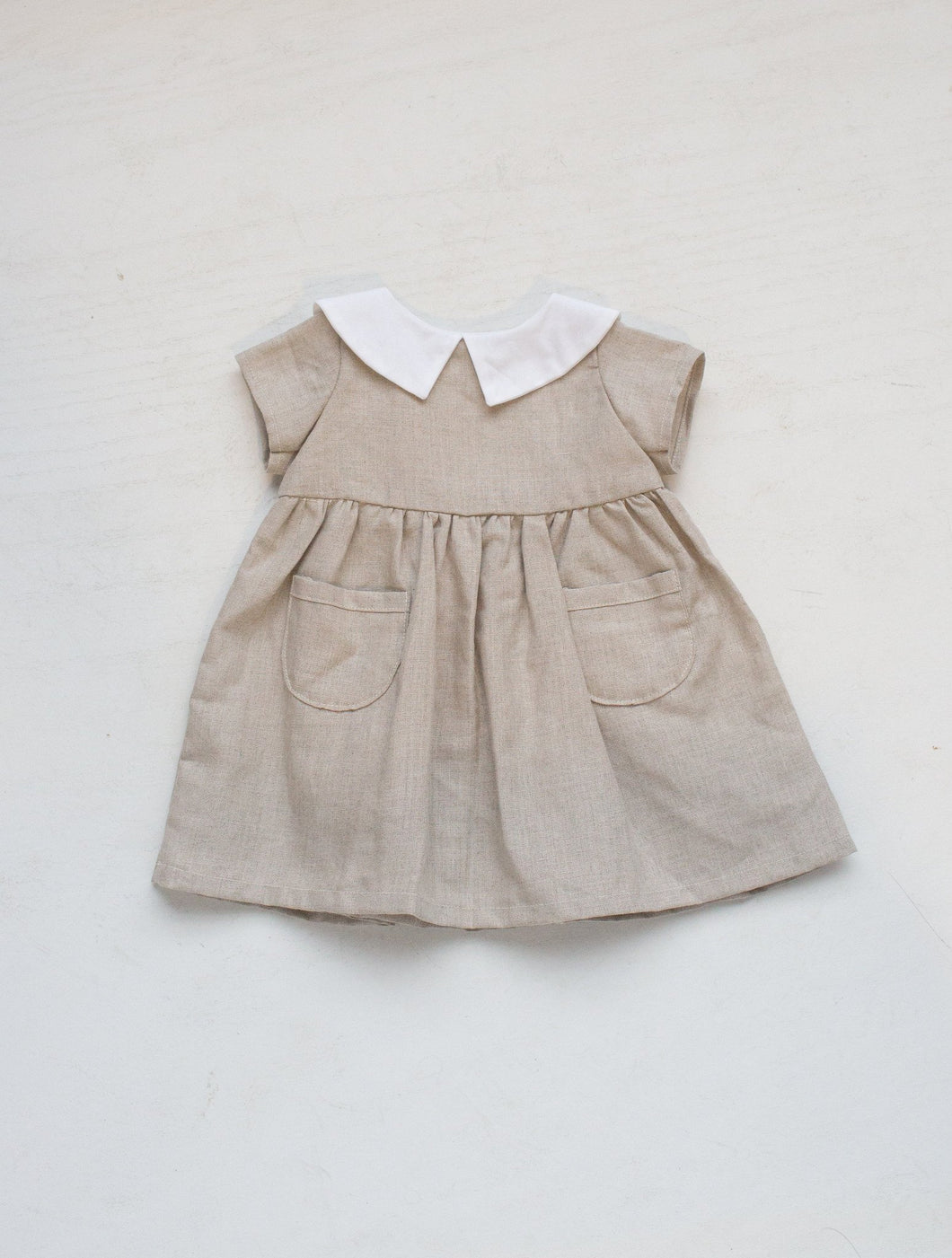 Alice Dress - Natural Linen