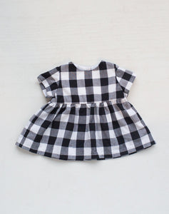 Black Gingham Blouse (Cotton lining)