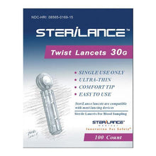 Lancets, 30 Gauge, 1 Pack of 100 Count