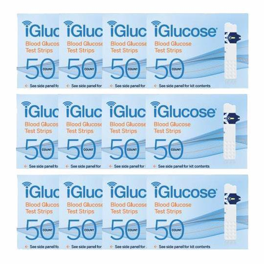 iGlucose® Test Strips, 12-Pack of 50 Count (US)