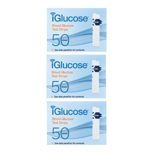 iGlucose® Test Strips, 3-Pack of 50 Count