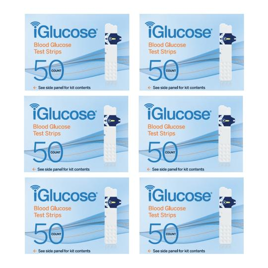 iGlucose® Test Strips, 6-Pack of 50 Count (US)