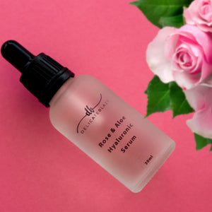 Load image into Gallery viewer, Rose & Aloe Hyaluronic Facial Serum 1% - 30g-Delicate blaze