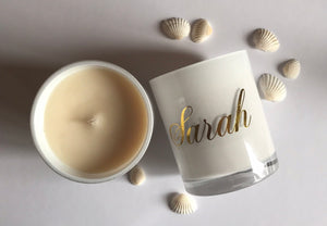 Personalised Soy Candle - 300g-Delicate blaze
