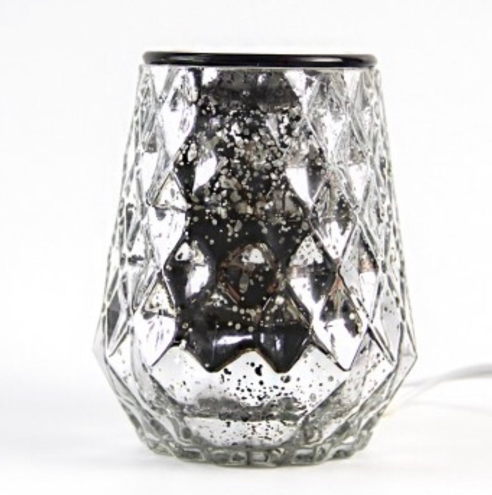 Silver Shimmer - Electric Wax Warmer-Delicate blaze