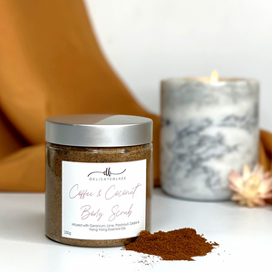 Load image into Gallery viewer, Coffee & Coconut Body Scrub-Delicate blaze